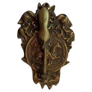 Vintage Hand & Gavel Door Knocker