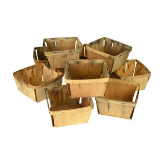 Rustic Berry Baskets - Set of 10