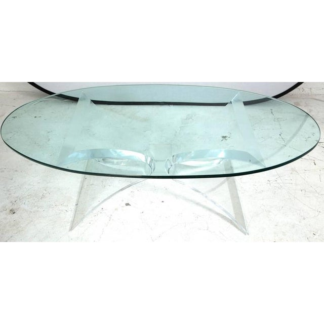 Image of Lion in Frost Lucite Butterfly Coffee Table