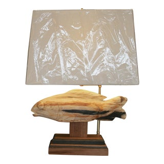 Moderen Carved Koi Fish Table Lamp