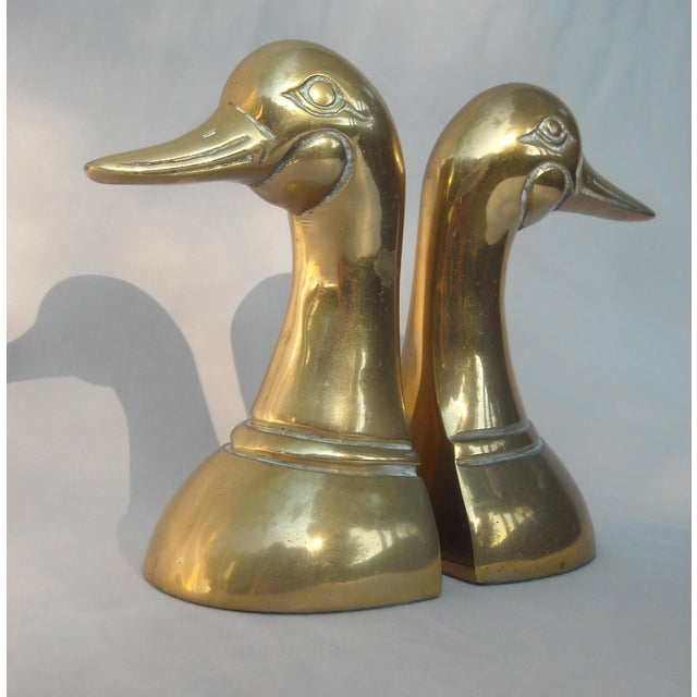 Mid-Century Brass Duck Head Bookends - A Pair - Image 5 of 5