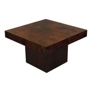 Bernhard Rohne Signed Copper Coffee Table