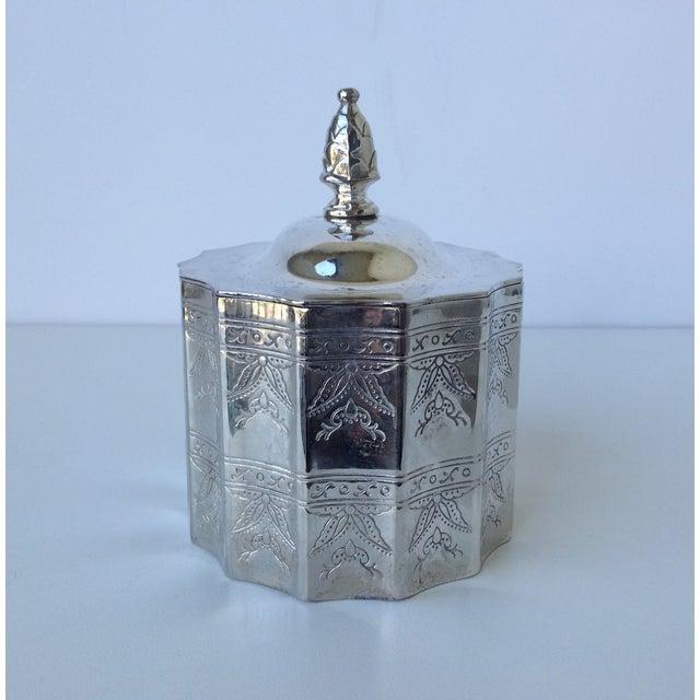 Silverplate Moorish Lidded Keepsake Box - Image 5 of 9