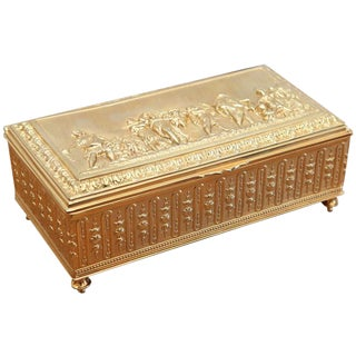 Florentine, Gilt Bronze Box