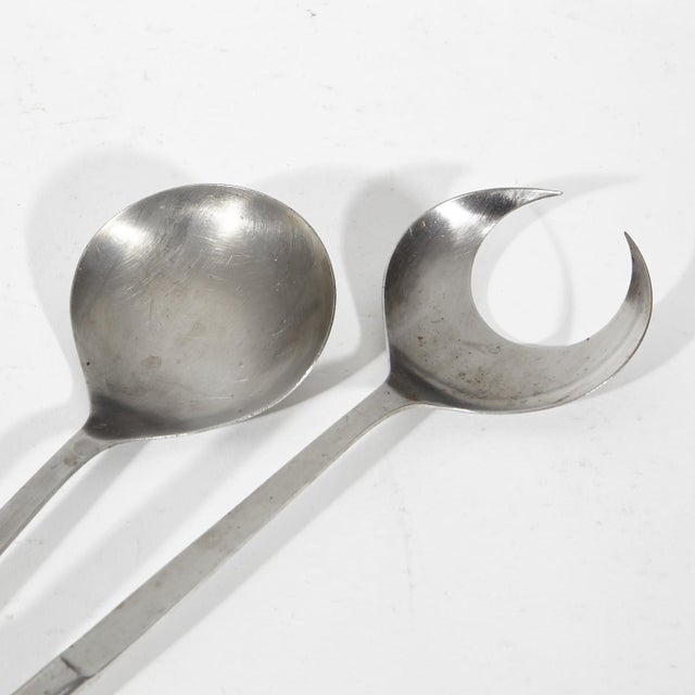 Image of 1960's Stainless Steel Salad Fork & Spoon