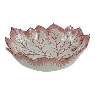Portuguese Majolica Leaf Form Bowl