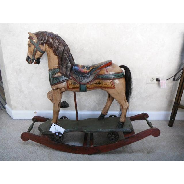 Vintage Display Hand Painted Rocking Horse - Image 2 of 10