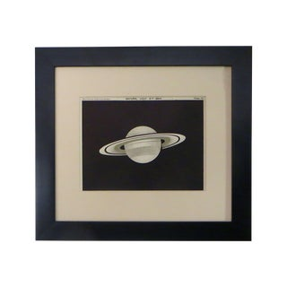 1920s Saturn Lithograph Print