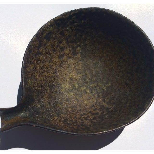 Image of 1960s Fantoni Gambone Italian Glaze Black Dish