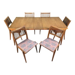 John Van Koert for Drexel Dining Set With Six Chairs