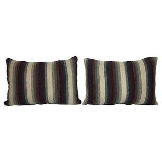 Repurposed Wool Blanket Lumbar Pillows - A Pair