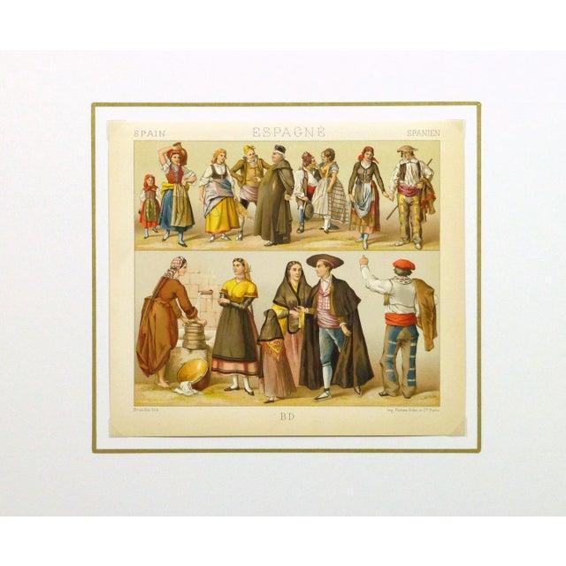 Image of Antique Fashion Print Spanish Dress, 1885