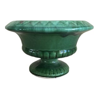 Mid-Century Green Pottery Vessel