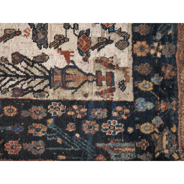 """Antique Persian Distressed Rug - 3'9"""" X 4'3"""" - Image 4 of 5"""