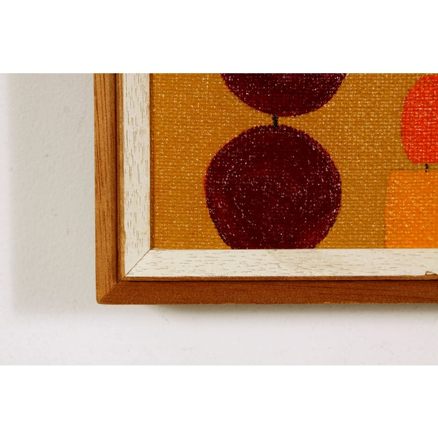 Beaded Curtain Painting by D. Schiller - Image 4 of 4