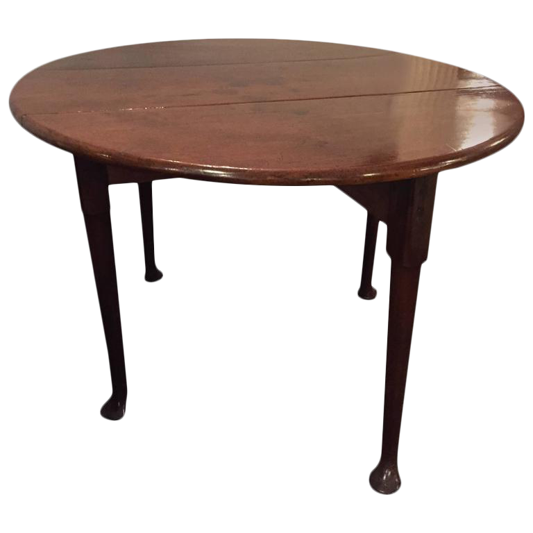 19th Century Queen Anne Style Polished Drop Side Table