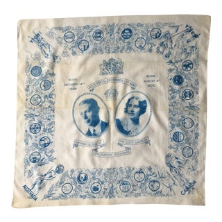 1936 Antique King George VI Coronation Commemorative Bandana