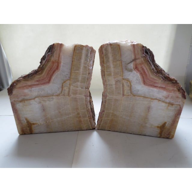 Image of Petrified Wood Bookends - A Pair