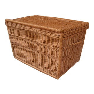 "37"" Wicker Chest Storage Hamper"