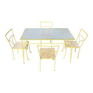Salterini Style Iron Dining Set- 5 Pieces
