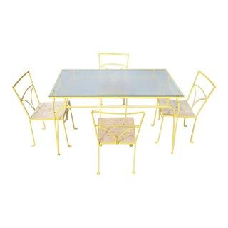 Salterini Style Iron Dining Set- 5 Pieces
