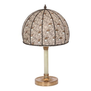 Austrian Bronze and Resin Table Lamp, circa 1910