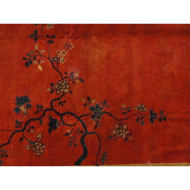 Antique Art Deco Chinese Carpet - 9′3″ × 11′4″ - Image 2 of 4