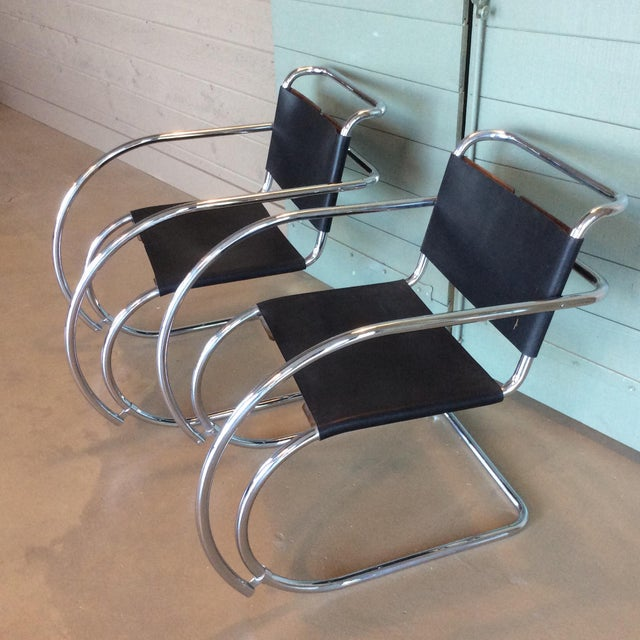 Mies Van Der Rohe Mr20 Cantilever Chairs- a Pair - Image 2 of 8