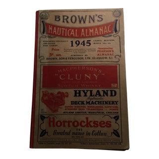 "'Brown's Nautical Almanac: 1945"" Book"