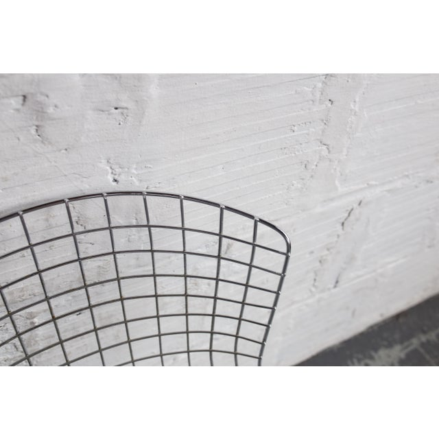 Knoll Bertoia Black Padded Wire Side Chair - Image 8 of 8