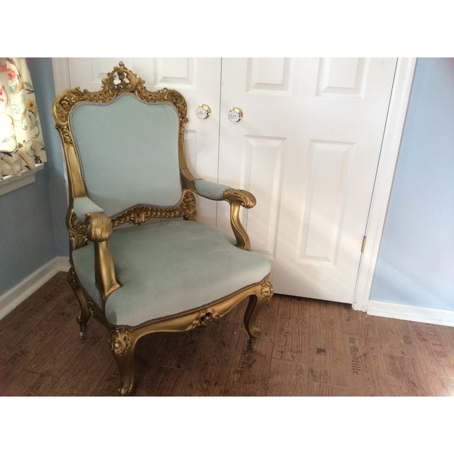 French Baroque Gilt Bergere - Image 3 of 7
