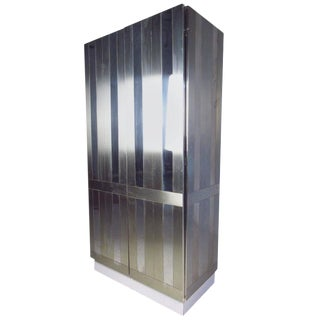 Paul Evans Style Chrome-Plated Wardrobe
