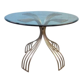 Modern Metal & Glass Table