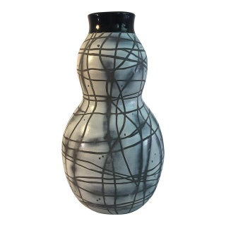 Contemporary Black & White Patterned Vase