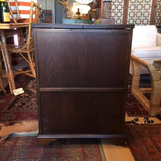 Image of Antique Wooden Bar Cabinet
