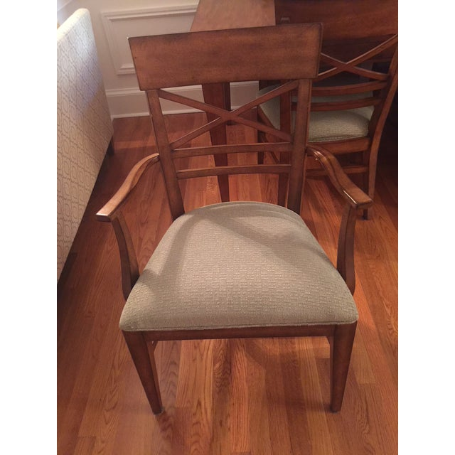 Ethan Allen Dining Table & Chairs - Image 3 of 8