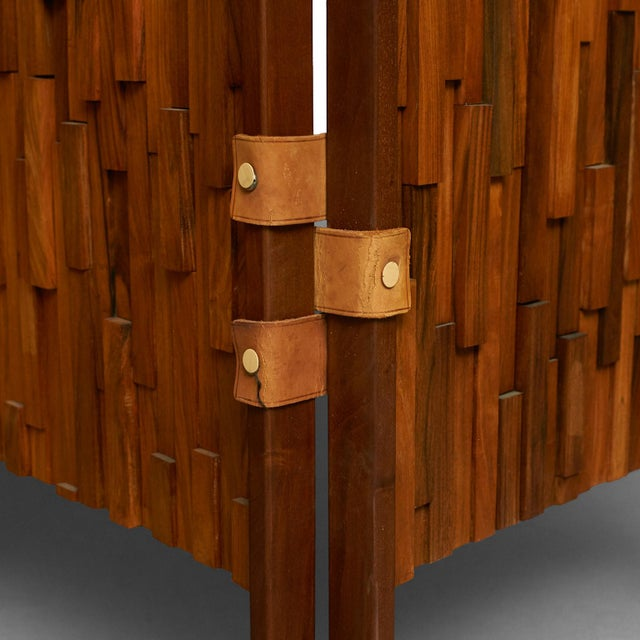 Brazilian rosewood screens in the manner of Percival Lafer - Image 5 of 6