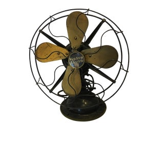 General Electric Brass Fan