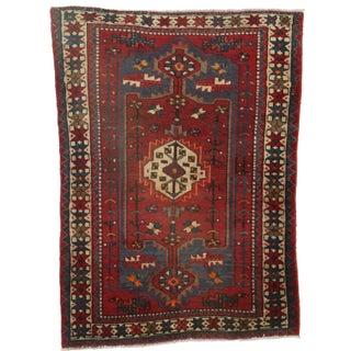 RugsinDallas Hand-Knotted Wool Persian Hamedan- 4′5″ × 6′3″