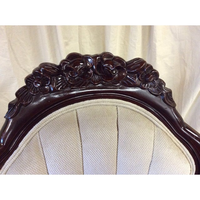 Wooden Victorian Chairs - Pair - Image 11 of 11
