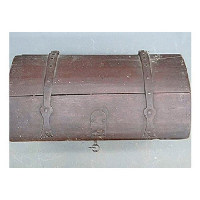 Antique 1780 Painted Trunk - Image 3 of 5
