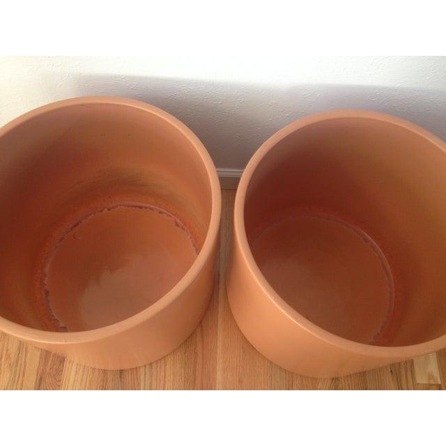 Image of X-Large Midcentury Gainey Ceramics Planters - Pair