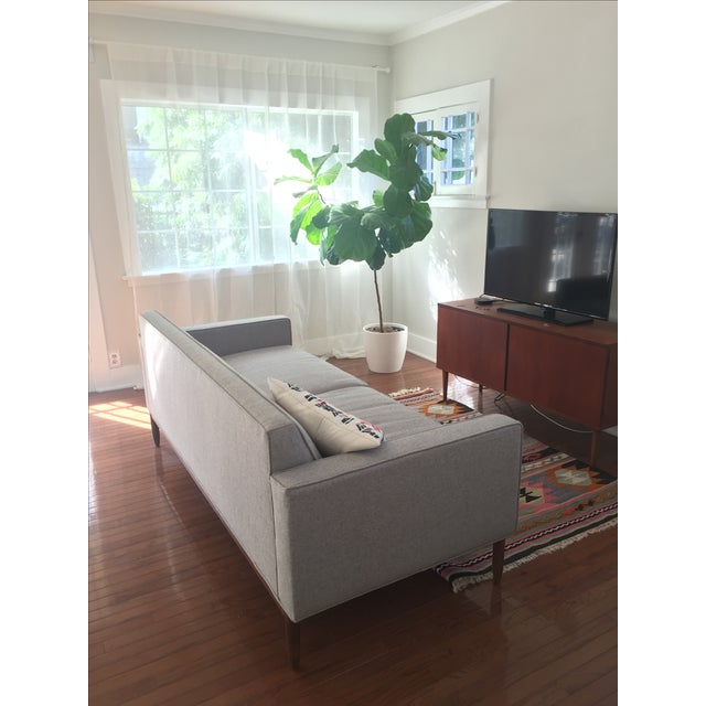 Brand New Mid Century-Inspired Custom Gray Sofa - Image 4 of 5