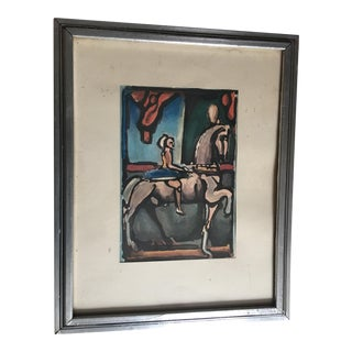 Rauault 1935 Figure on a Horse Print