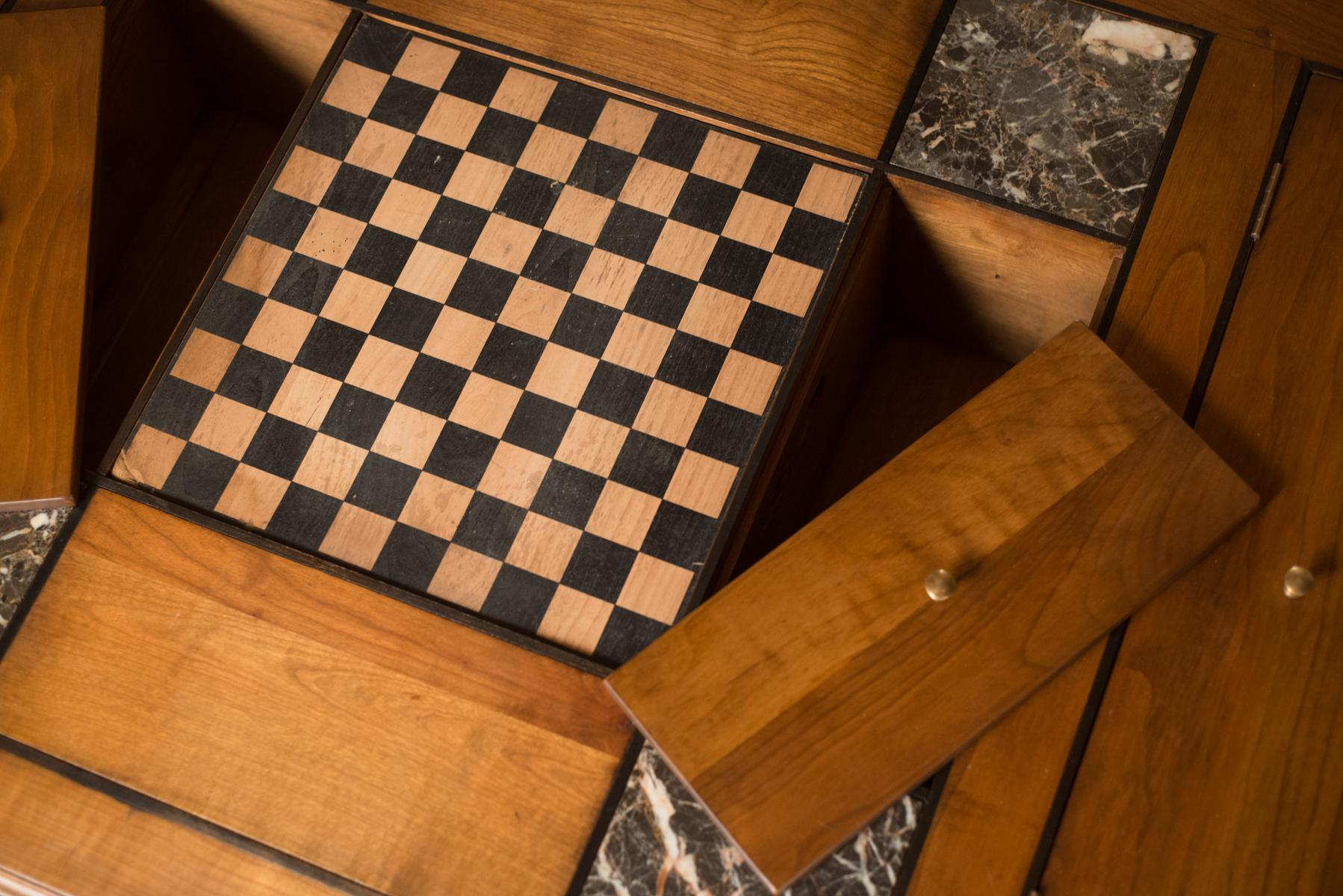 Mid Century French Coffee Table W/ Chess Board   Image 6 Of 9