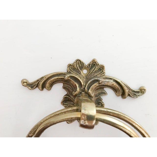 Vintage Brass Towel Holders - A Pair - Image 2 of 5
