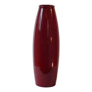 West German Red Ceramic Vase