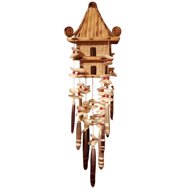 Oriental Pagoda with Sea Shell Chimes - Image 1 of 7