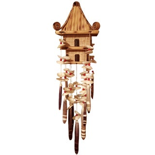 Oriental Pagoda with Sea Shell Chimes