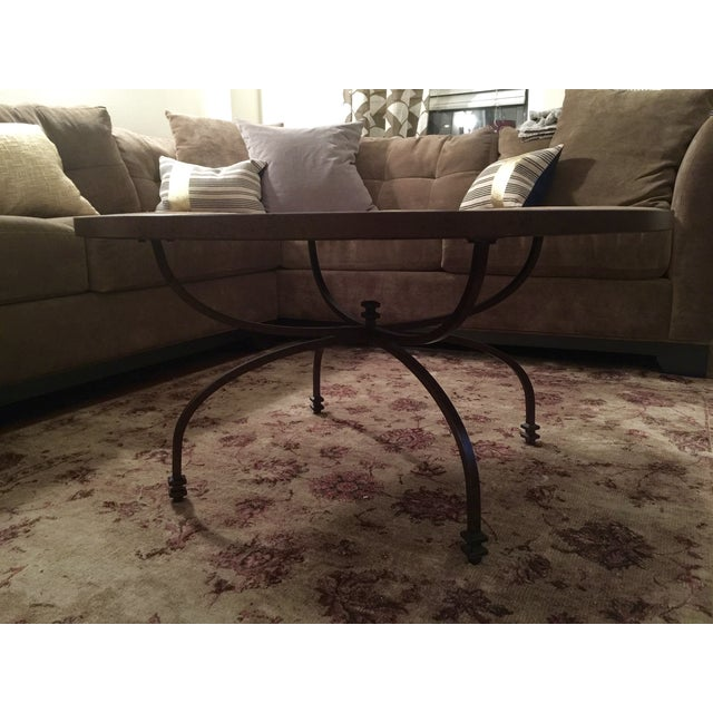 Pottery Barn Willow Antiqued Coffee Table - Image 6 of 8